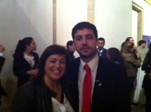 Junto a Ismael Novo, Presidente de la Confederación Nacional de Junior Empresas